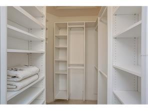 Fully Featured Master Bedroom Walk-In Closet 600 Carriage House Lane #202, Nokomis, FL